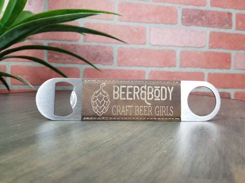 Beer & Body Vegan Leather Bottle Opener