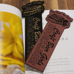 Craft Beer Girls Books and Beer Vegan Leather Bookmark