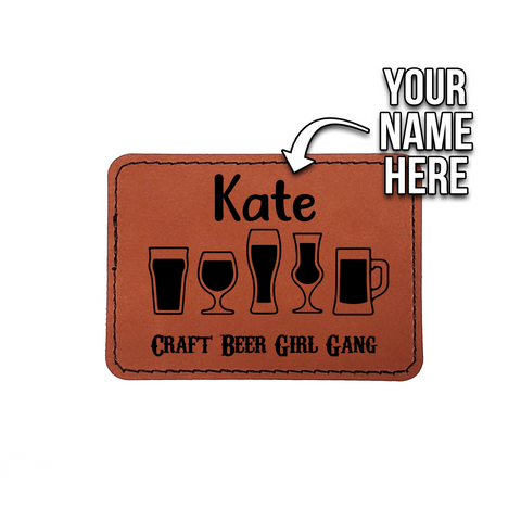Beer & Body Craft Beer Girl Gang - Personalized Vegan Leather Patch