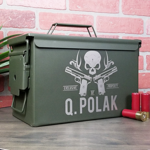Personalized Laser-Engraved Ammo Box