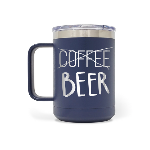 Beer & Body Craft Beer Girls - Beer Coffee Strikeout 15oz Insulated Stainless Steel Funny Mug