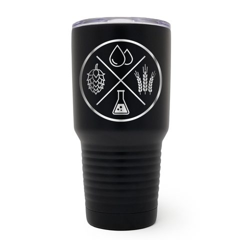 Beer Ingredients 30oz Laser Engraved Insulated Tumbler Cup
