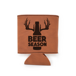 Beer Season Leather Insulated Beverage Sleeve Cozie