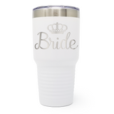 Bride Wedding 30oz Laser Engraved Insulated Tumbler Cup
