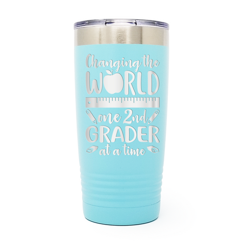 Changing The World Teacher 20oz Laser Engraved Insulated Tumbler Cup