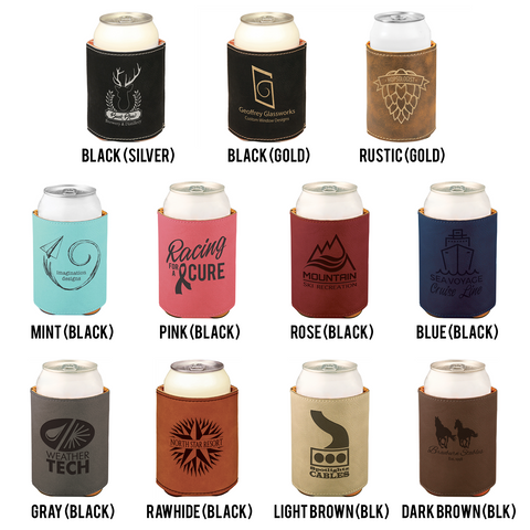 Design Your Own Leather Insulated Beverage Sleeve Cozie