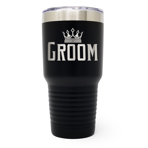 Groom Wedding 30oz Laser Engraved Insulated Tumbler Cup