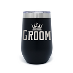 Groom 16oz Powder Coated Insulated Stemless Tumbler