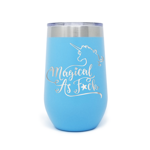 Magical As Fuck Unicorn 16oz Powder Coated Insulated Stemless Tumbler