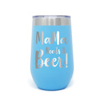 MaMa Needs A Beer 16oz Powder Coated Insulated Stemless Tumbler