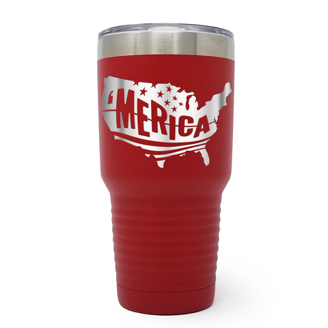 Merica USA 30oz Laser Engraved Insulated Tumbler Cup