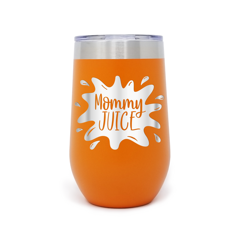 Mommy Juice 16oz Powder Coated Insulated Wine Tumbler