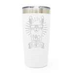 No Prob Llama 20oz Laser Engraved Insulated Tumbler Cup