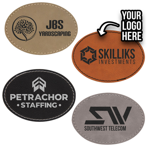 Build Your Own Vegan Leather Patch - 3.5 inch x 2.5 inch Oval