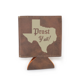 Prost Y'all Vegan Leather Insulated Beverage Sleeve Cozie