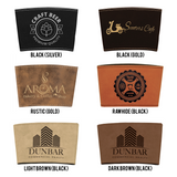 Design Your Own Leather Laser Engraved Pint Glass Sleeve