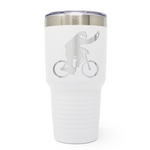 Bicycle Sloth 30oz Laser Engraved Insulated Tumbler Cup