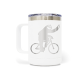Sloth Bicycle 15oz Insulated Stainless Steel Mug