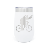 Bicycle Sloth 16oz Powder Coated Insulated Stemless Tumbler