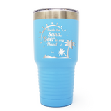 Toes In The Sand Beer In My Hand 30oz Laser Engraved Insulated Tumbler Cup
