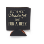 It's The Most Wonderful Time For A Beer Leather Insulated Beverage Sleeve Cozie