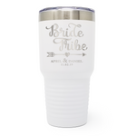 Bride Tribe Wedding 30oz Laser Engraved Insulated Tumbler Cup
