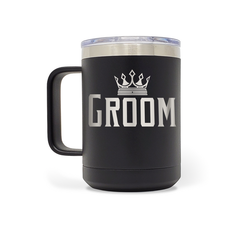 Groom 15oz Insulated Stainless Steel Mug