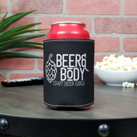 Beer & Body Leather Insulated Beverage Sleeve Cozie