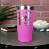 Personalized Monogram - She Believed She Could So She Did - 20oz Laser Engraved Insulated Tumbler (Multiple Colors)