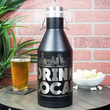 Houston Skyline Drink Local  Beer Growler 64oz