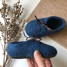 Felt Shoes - Indigo Blue
