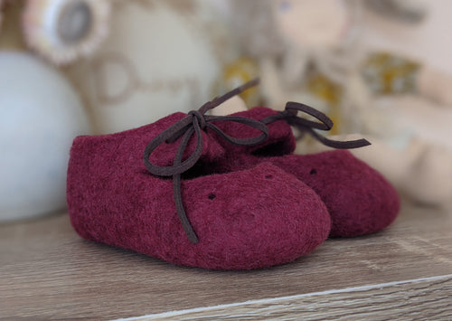 Felt Mary Janes - Mulberry