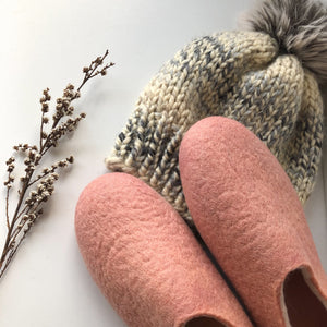 Thin Ladies Slippers - Coral