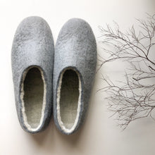 Thin Ladies Slippers - Light Grey