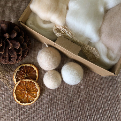DIY Felted Bauble Kit - Champagne