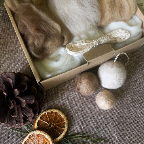 DIY Felted Bauble Kit - Earthy
