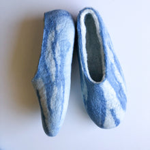 Thick Ladies Slippers - Blue Hues