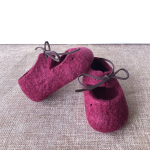 Felt Mary Janes - Mulberry COMING SOON