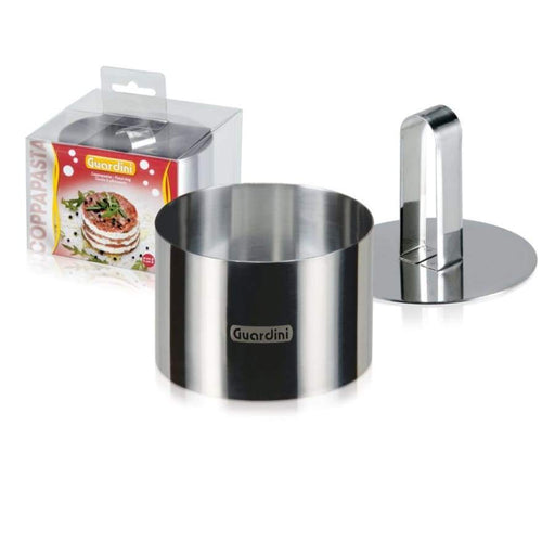 Guardini Round Food Ring 9 cm with pusher Stainless Steel - 15664