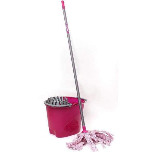 Parex Extra Power Cleaning Set (Bucket+Mop with Handle+Squeezer) Purple - 2107572