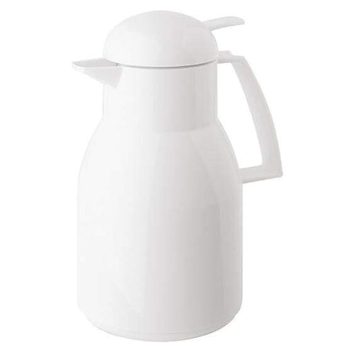 Helios Top Push Vacuum Jug with Button 1L White - 2724-001
