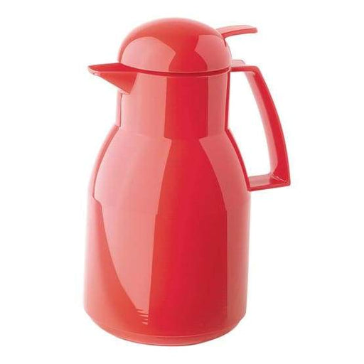 Helios Top Push Vacuum Jug with Button 1L Red - 2724-011