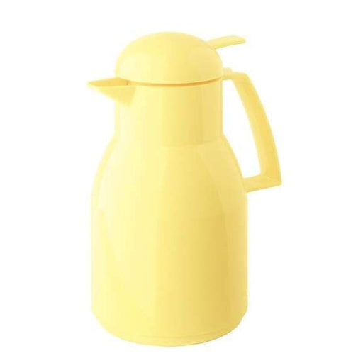 Helios Top Push Vacuum Jug with Button 1L Yellow - 2724-035