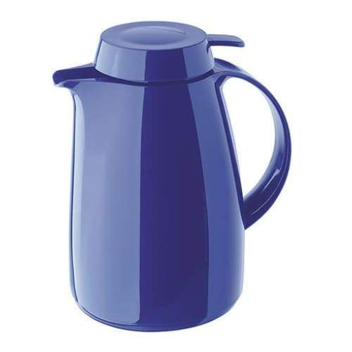 Helios Classic Vacuum Jug with Button 1L Blue - 7204-008