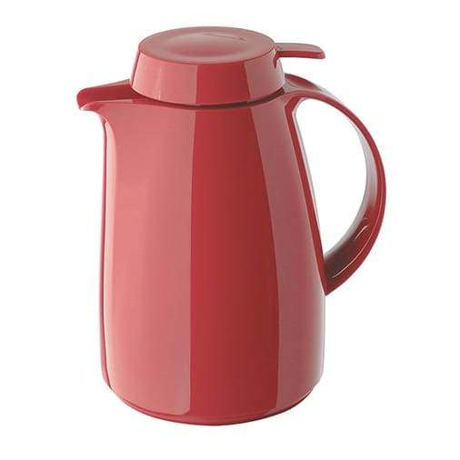Helios Classic Vacuum Jug with Button 1L Red - 7204-046