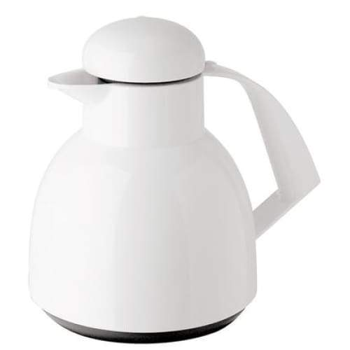 Helios Day Push Vacuum Jug with Button 1L White - 7924-001