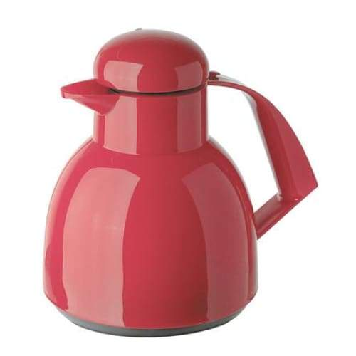 Helios Day Push Vacuum Jug with Button 1L Red - 7924-046