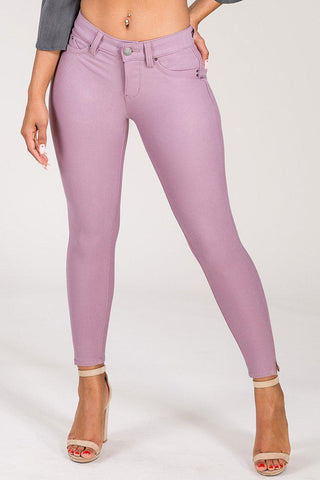 Junior Wannabettabutt Ponte Mid-Rise Pants-Pants-YMI Wholesale-1-Mauve-Purple Plum Boutique