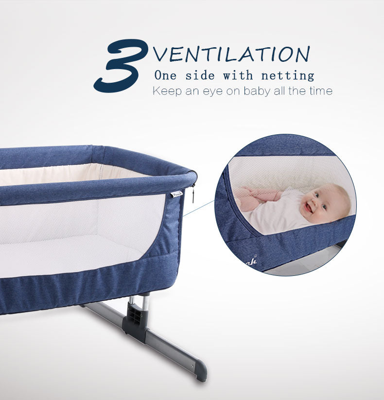 c9b3b64223 Bedside bassinet connected to parents – Just a Little Shopping