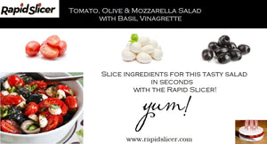 Need a Quick & Tasty Salad for that BBQ? Tomatoes, Olives and Fresh Mozzarella to the Rescue!